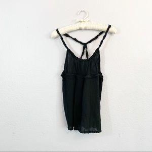 LUX Urban Outfitters Black Gauze Swing Tank